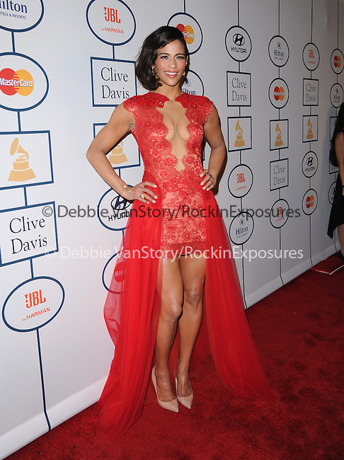Paula Patton attends Pre-GRAMMY Gala & Salute to Industry Icons with Clive Davis Honoring Lucian Grainge held at The Beverly Hilton Hotel in Beverly Hills, California on January 25,2014                                                                               © 2014 Hollywood Press Agency