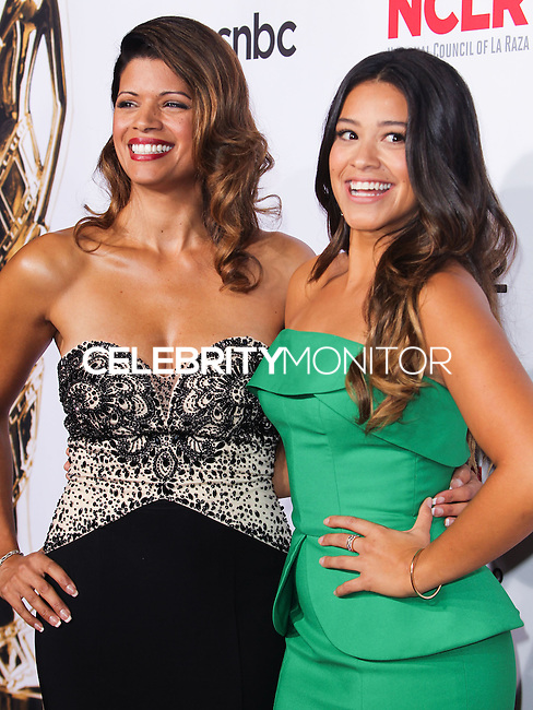 PASADENA, CA, USA - OCTOBER 10: Andrea Navedo, Gina Rodriguez arrive at the 2014 NCLR ALMA Awards held at the Pasadena Civic Auditorium on October 10, 2014 in Pasadena, California, United States. (Photo by Celebrity Monitor)