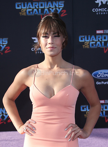 "HOLLYWOOD, CA - April 19: Alex Hudgens, At Premiere Of Disney And Marvel's ""Guardians Of The Galaxy Vol. 2"" At The Dolby Theatre  In California on April 19, 2017. Credit: FS/MediaPunch"