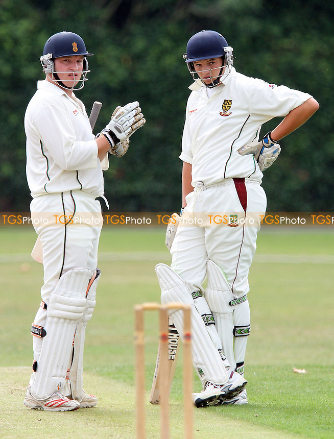 K Smith (left) and N Browne of South Woodford - Upminster CC vs South Woodford CC - Essex Cricket League- 08/09/07  - MANDATORY CREDIT: Gavin Ellis/TGSPHOTO - SELF-BILLING APPLIES WHERE APPROPRIATE. NO UNPAID USE. TEL: 0845 094 6026..