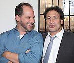 Playwright Aaron Posner and Director Gordon Edelstein attends the Meet & Greet for the new Off-Broadway Play 'My Name Is Asher Lev'  at the Davenport Studios on 10/22/2012 in New York City.