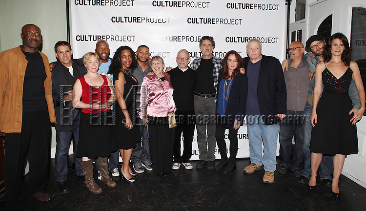 Delroy Lindo, Jim Bracchitta, Amelia Campbell, Curtis McClarin, April Yvette Thompson, JD Williams, Sunny Jacobs,Bob Balaban, Chris Sarandon, Stockard Channing, Brian Dennehy, Bruce Kroenberg, Erik Jensen & Jessica Blank attending the after Party for 10th Anniversary Production of 'The Exonerated' at the Culture Project in New York City on 9/19/2012.