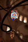 Glass Lantern - Glass mosaic lantern at the Blue Mosque, Sultanahmet, Istanbul, Turkey