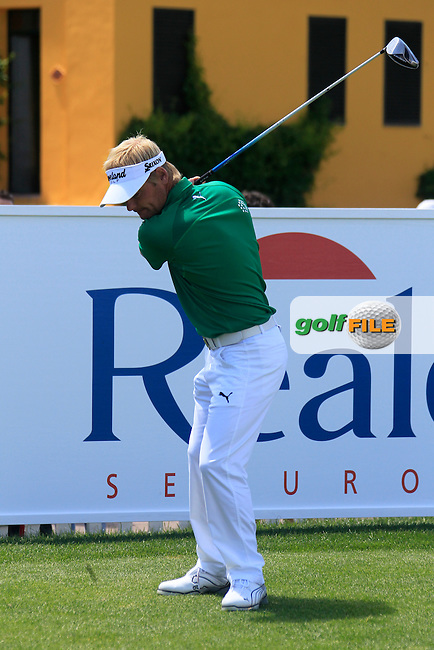 Soren Kjeldsen (DEN) waits to start his match on the 1st tee during Sunday's Final Round of the Open de Espana at Real Club de Golf de Sevilla, Seville, Spain, 6th May 2012 (Photo Eoin Clarke/www.golffile.ie)