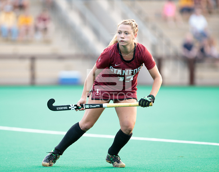 Stanford, CA - September 1,  2017:  The Stanford Field Hockey team defeats Iowa 3-2 at Varsity Field Hockey Turf at Stanford, CA.