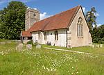 Village parish church of Saint Mary, Somersham, Suffolk, England, UK