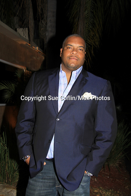 """Sean Ringgold attends Southwest Florida's SoapFest's Celebrity Weekend and came to see Tom Pelphrey doing A Night at the Theatre performing """"My Italy Story"""" benefitting the Apothecary Theatre Company at the Rose History Auditorium on November 11, 2012 in Marco Island, Florida. (Photo by Sue Coflin/Max Photos)"""
