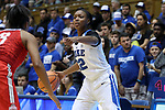DURHAM, NC - NOVEMBER 30: Duke's Mikayla Boykin (12). The Duke University Blue Devils hosted the Ohio State Buckeyes on November 30, 2017 at Cameron Indoor Stadium in Durham, NC in a Division I women's college basketball game, and as part of the annual ACC-Big Ten Challenge. Duke won the game 69-60.