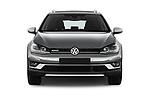 Car photography straight front view of a 2017 Volkswagen Golf Alltrack Base 5 Door Wagon