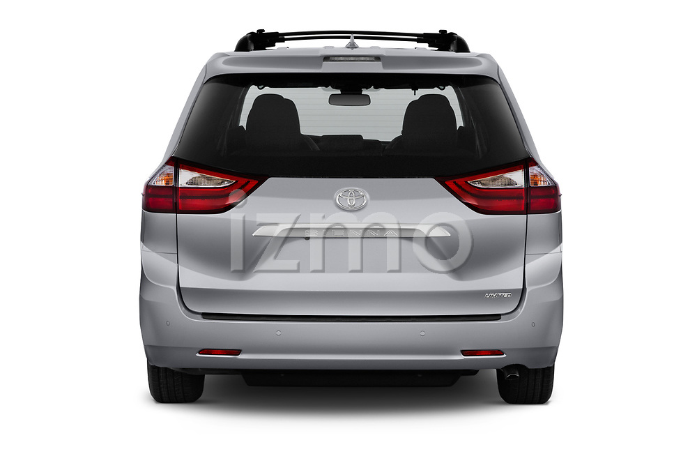 Straight rear view of a 2020 Toyota Sienna Limited FWD 5 Door Mini Van stock images