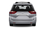 Straight rear view of a 2018 Toyota Sienna Limited FWD 5 Door Mini Van stock images