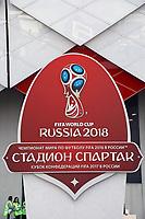 Symbol der WM 2018 am Spartak Stadion - 19.06.2018: Polen vs. Senegal, Gruppe H, Spartak Stadium Moskau