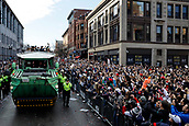 5th February 2019, Boston, Massachusetts, USA;  Fans packed the route during the New England Patriots Super Bowl Victory Parade on February 5th 2019, through the streets of Boston, Massachusetts.
