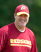 Washington Redskins' head coach Jay Gruden smiles as he oversees his team's practice prior to their first regular season game at Redskins Park in Ashburn, Virginia on Wednesday, September 3, 2014.<br /> Credit: Ron Sachs / CNP
