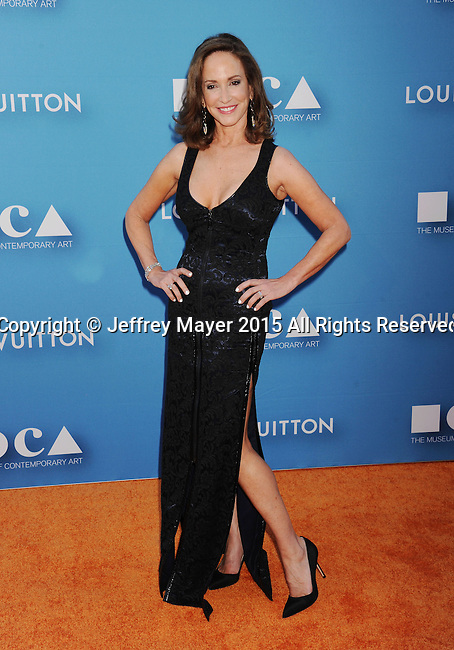 LOS ANGELES, CA - MAY 30: MOCA Gala Chair, cancer activist Lilly Tartikoff arrives at the 2015 MOCA Gala presented by Louis Vuitton at The Geffen Contemporary at MOCA on May 30, 2015 in Los Angeles, California.