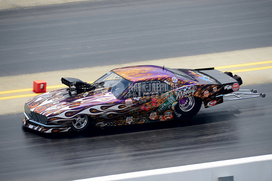 Apr. 15, 2012; Concord, NC, USA: NHRA pro mod driver Mike Knowles during the Four Wide Nationals at zMax Dragway. Mandatory Credit: Mark J. Rebilas-