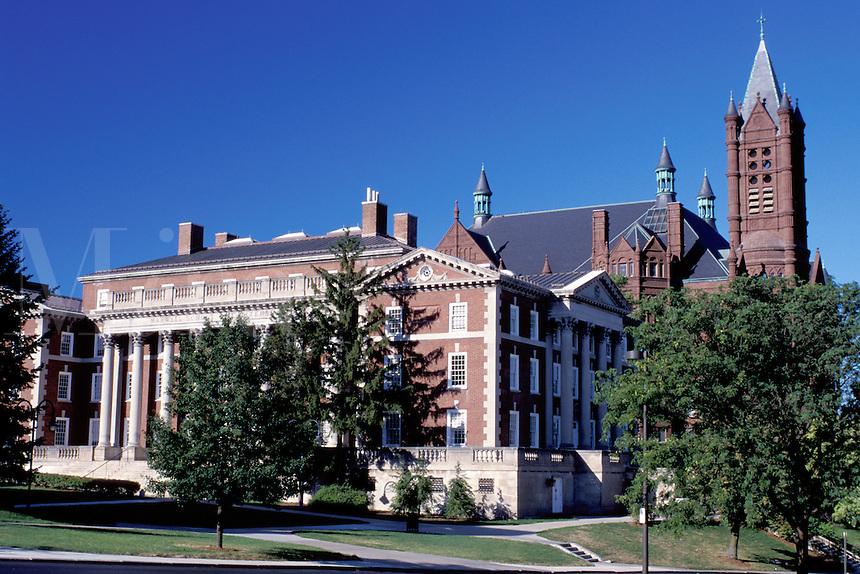 university, Syracuse, New York, NY, Maxwell Building on the Syracuse University campus.