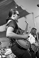 J. Geils of the J. Geils Band jamming with The Allman Brothers Band at the Sunset concert series 'Summerthing' at Boston Common in Boston, MA in the summer of 1971. © Peter Tarnoff / MediaPunch