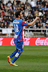 Levante UD´s Victor Casadesus Castano celebrates a goal during 2014-15 La Liga match between Rayo Vallecano and Levante UD at Vallecas stadium in Madrid, Spain. February 28, 2015. (ALTERPHOTOS/Luis Fernandez)