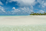 One Foot Islands in Aitutaki lagoon, Aitutaki, Cook Islands