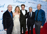 Mia Wasikowska, Robert Pattinson &amp; Robert Forster at the premiere for &quot;Damsel&quot; at the Arclight Hollywood, Los Angeles, USA 13 June 2018<br /> Picture: Paul Smith/Featureflash/SilverHub 0208 004 5359 sales@silverhubmedia.com