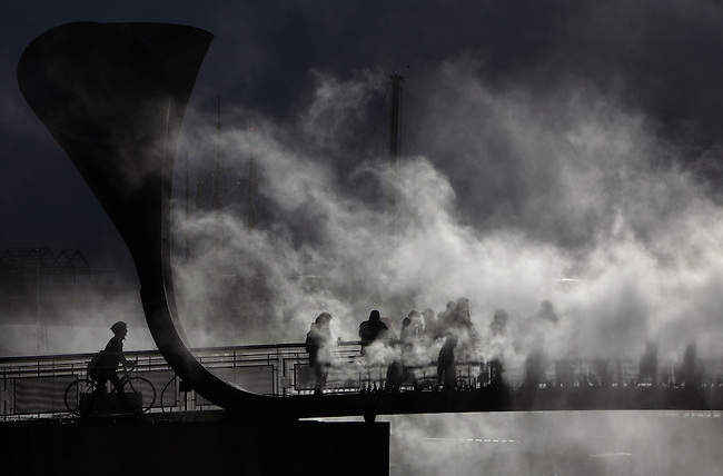 'Fogbridge' by Fujiko Nakaya.<br />