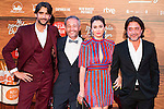 """The left to the righ, Aitor Luna, the director of the film Gustavo Ron, Blanca Suarez and Enrique Arce attends to the premiere of the spanish film """"Mi Panaderia en Brooklyn"""" at Cines Capitol in Madrid. June 30 2016. (ALTERPHOTOS/Borja B.Hojas)"""