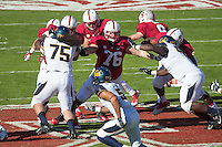 Stanford, CA -- November 23, 2013:  Stanford's Kevin Danser during a game against Cal at Stanford Stadium. Stanford defeated Cal 63-13.