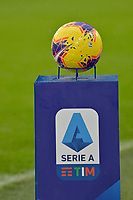 1st December 2019; Allianz Stadium, Turin, Italy; Serie A Football, Juventus versus Sassuolo; the official Serie A Tim Championship ball on display - Editorial Use