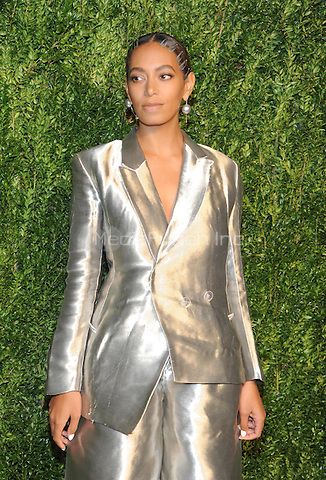 NEW YORK, NY - NOVEMBER 07:  Solange Knowles attends 13th Annual CFDA/Vogue Fashion Fund Awards at Spring Studios on November 7, 2016 in New York City. Photo by John Palmer/MediaPunch