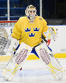 Johan Gustafsson (Sweden - 30) - The Merrimack College Warriors defeated the visiting Sweden Under 20 team 4-1 on Tuesday, November 2, 2010, at Lawler Arena in North Andover, Massachusetts.