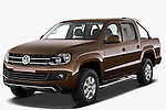 Front three quarter view of 2012 Volkswagen Amarok Trendline Truck Stock Photo