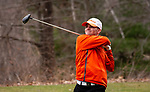 WATERTOWN,  CT-041119JS15-  Watertown's Dave Aquavia tees off on 15th hole during their match with Watertown Thursday at Crestbrook Park in Watertown. <br /> Jim Shannon Republican American