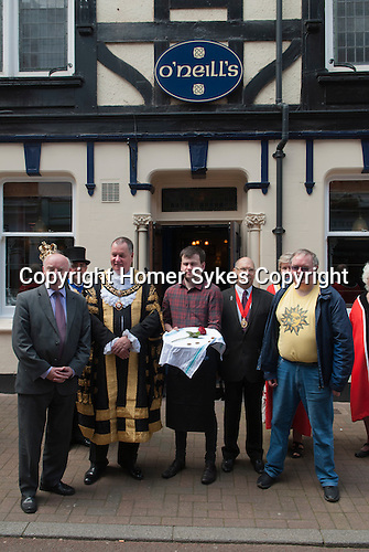 Damask Rose Ceremony Leicester 2016. O'Neills pub. The Lord Mayor for 2016-2017 is Councillor Stephen Corrall