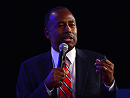 Washington, DC - September 21, 2018:  Dr. Ben Carson addresses attendees of the Values Voter Summit hosted by the Family Research Council at the Omni Shoreham Hotel in Washington, D.C. September 21, 2018.  (Photo by Don Baxter/Media Images International)