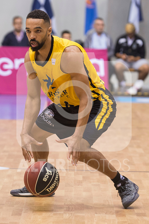 Iberostar Tenerife's David White during Liga Endesa match between San Pablo Burgos and Iberostar Tenerife at Coliseum Burgos in Burgos, Spain October 01, 2017. (ALTERPHOTOS/Borja B.Hojas)