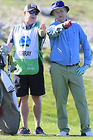 Bill Murray at the 4th green at Spyglass Hill during Thursday's Round 1 of the 2018 AT&amp;T Pebble Beach Pro-Am, held over 3 courses Pebble Beach, Spyglass Hill and Monterey, California, USA. 8th February 2018.<br /> Picture: Eoin Clarke | Golffile<br /> <br /> <br /> All photos usage must carry mandatory copyright credit (&copy; Golffile | Eoin Clarke)