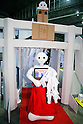 "A SoftBank robot Pepper dressing a Shinto priestesses performs during the Niconico Douga fan event at Makuhari Messe International Exhibition Hall on April 25, 2015, Chiba, Japan. The event includes special attractions such as J-pop concerts, Sumo and Pro Wrestling matches, cosplay and manga and various robot performances and is broadcast live on via the video-sharing site. Niconico Douga (in English ""Smiley, Smiley Video"") is one of Japan's biggest video community sites where users can upload, view, share videos and write comments directly in real time, creating a sense of a shared watching. According to the organizers more than 200,000 viewers for two days will see the event by internet. The popular event is held in all 11 halls of the huge Makuhari Messe exhibition center from April 25 to 26. (Photo by Rodrigo Reyes Marin/AFLO)"