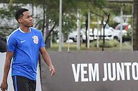 SÃO PAULO, SP, 17.03.2016 - FUTEBOL-CORINTHIANS - Elias  jogador do Corinthians durante sessão de treinamento no Centro de Treinamento Joaquim Grava na região leste de São Paulo nesta quinta-feira, 17. (Foto: Marcos Moraes/Brazil Photo Press)