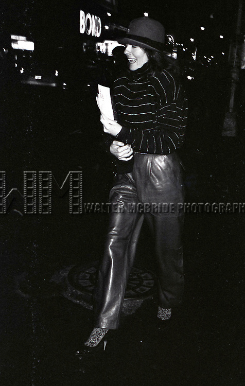 Diane Keaton attends a performance of 'Crimes of the Heart' at the Golden Theatre on November  1, 1981 in New York City.