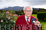 Michael O'Connor  from Killarney is 102 Year Old with his third meddle from the President