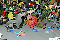 OrigamiUSA holiday tree at the Museum of Natural History, New York. Decorations and lightning ceremony.