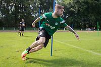 MARINEHOF - Voetbal, trainingskamp FC Groningen in Duitsland, voorbereiding seizoen 2017-2018, 18-07-2017, Lars Veldwijk voor het eerst op de training