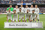 The Real Madrid team poses for a photo before the match Real Madrid vs RCD Espanyol, a La Liga match at the Santiago Bernabeu Stadium on 18 February 2017 in Madrid, Spain. Photo by Diego Gonzalez Souto / Power Sport Images