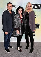 "08 January 2019 - Los Angeles, California - Julie Larson, Michael Greif, Angela Wendt. FOX Hosts ""RENT"" Press Junket held at the FOX Lot. Photo Credit: Faye Sadou/AdMedia"