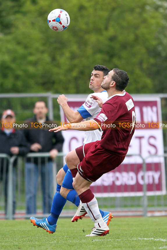 Luke Callander (Chelmsford) and Michael Green (Eastleigh) - Chelmsford City vs Eastleigh - Skrill Conference South Football at Melbourne Park, Chelmsford, Essex - 12/04/14 - MANDATORY CREDIT: Mick Kearns/TGSPHOTO - Self billing applies where appropriate - 0845 094 6026 - contact@tgsphoto.co.uk - NO UNPAID USE