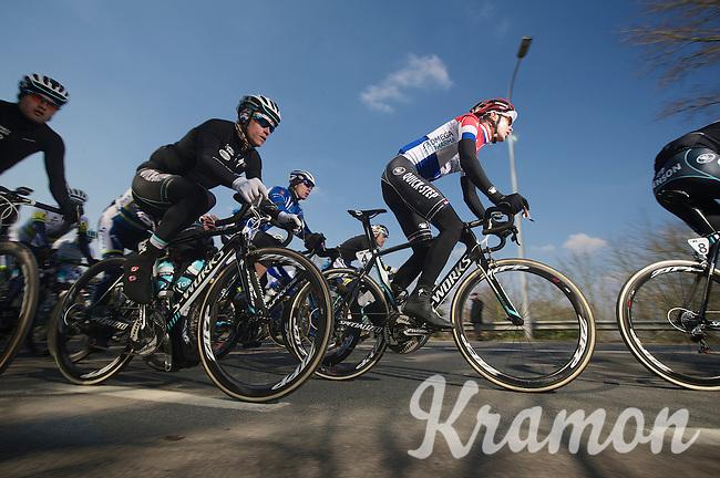 3 Days of De Panne.stage 1: Middelkerke - Zottegem..Niki Terpstra (NLD) flancked by Silvain Chavanel (FRA).
