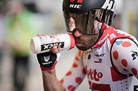 Polka-dotted Thomas De Gendt (BEL/Lotto-Soudal) at the start of Stage 5 (ITT): Barbentane to Barbentane (25km)<br /> 77th Paris - Nice 2019 (2.UWT)<br /> <br /> ©kramon