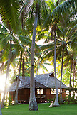 FRENCH POLYNESIA, Vahine Island. Bungalows, rooms and the grounds of the Vahine Private Island Resort.