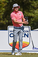 Peter Malnati (USA) watches his tee shot on 2 during round 4 of the 2019 Houston Open, Golf Club of Houston, Houston, Texas, USA. 10/13/2019.<br /> Picture Ken Murray / Golffile.ie<br /> <br /> All photo usage must carry mandatory copyright credit (© Golffile | Ken Murray)